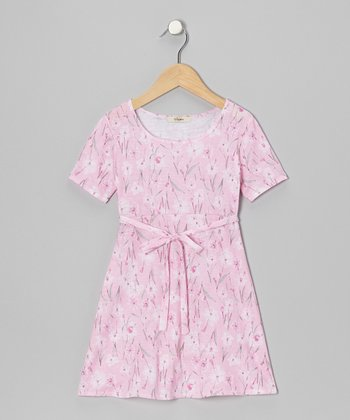 Pink Jasmine A-Line Dress - Toddler & Girls