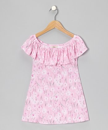 Pink Ruffle Jasmine Swing Dress - Toddler & Girls
