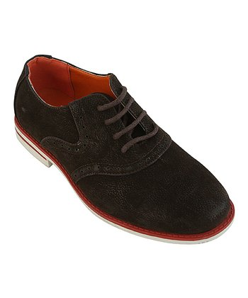 Eddie Marc Kids Brown & Red Sole Lace-Up Oxford