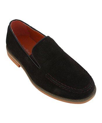 Eddie Marc Kids Brown & Orange Sole Loafer