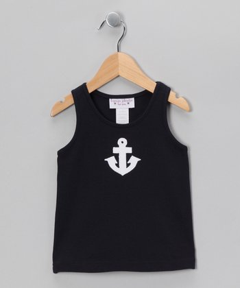 Navy Anchor Tank - Toddler & Girls