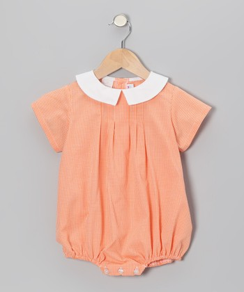 Orange Gingham Bubble Bodysuit - Infant