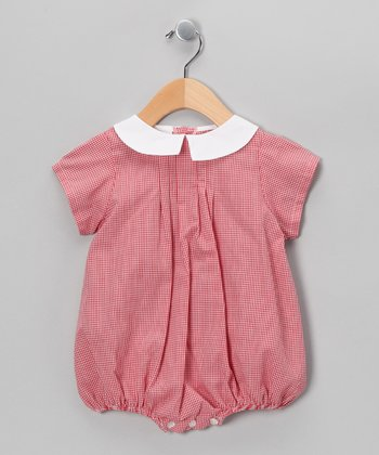Red Gingham Bubble Bodysuit - Infant
