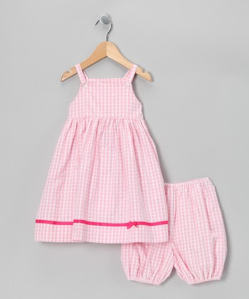 Pink Gingham Dress & Bloomers - Infant