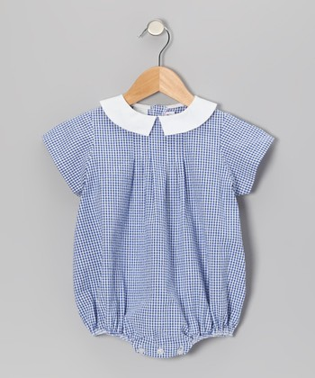 Royal Gingham Seersucker Bubble Bodysuit - Infant