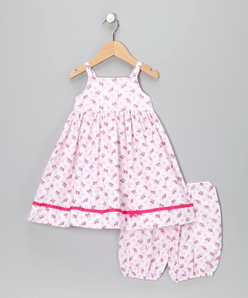 Pink Butterfly Dress & Bloomers - Infant & Toddler