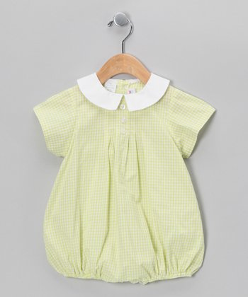 Lime Gingham Bubble Bodysuit - Infant