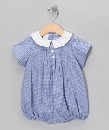 Royal Blue Gingham Bubble Bodysuit - Infant