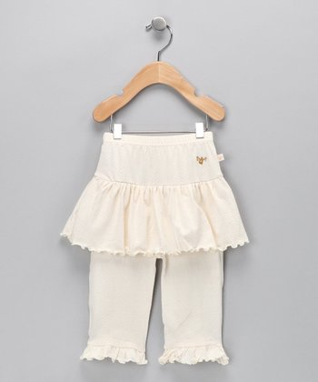 Ivory Organic Skirted Pants