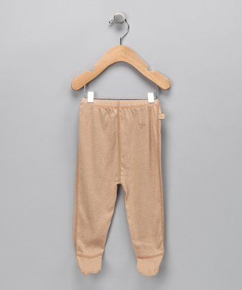 Wheat Organic Footie Pants