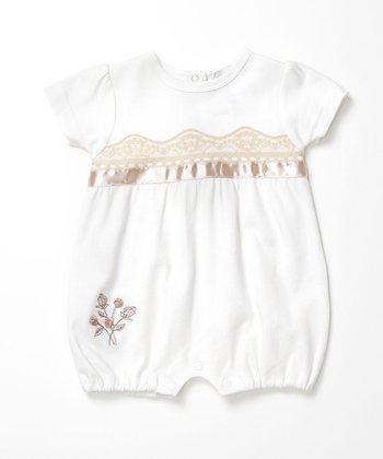 Rumble Tumble Ivory Lace Romper - Infant