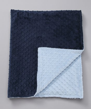 Blue & Navy Minky Toddler Blanket