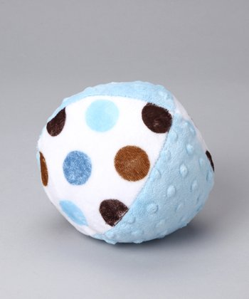 Blue Posh Dot Minky Plush Ball
