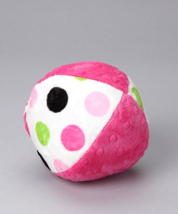 Fuchsia Posh Dot Minky Plush Ball