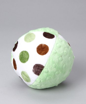 Lime Posh Dot Minky Plush Ball