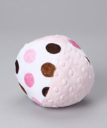 Pink Posh Dot Minky Plush Ball