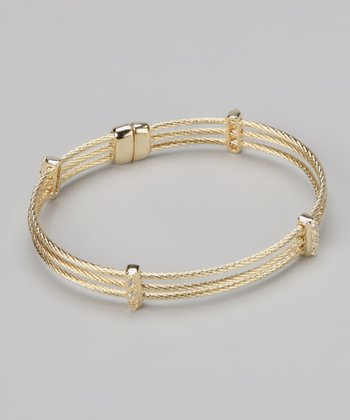 Gold Cable Magnetic Bracelet