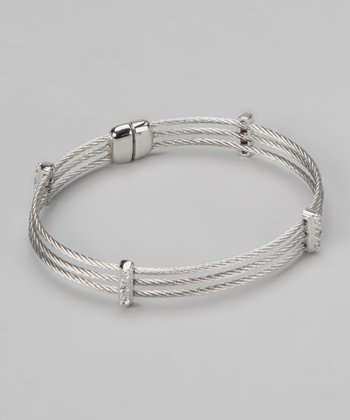 Silver Cable Magnetic Bracelet
