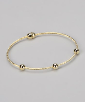 Gold Three-Sphere Bracelet
