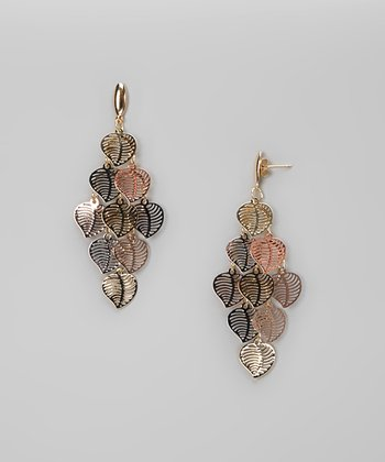 Tricolor Dangling Leaves Earrings