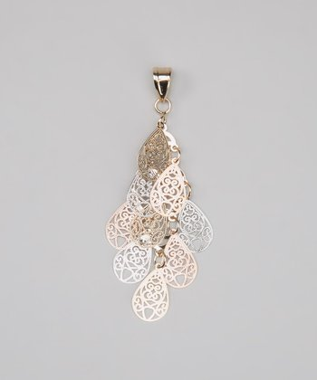 Tricolor Dangling Filigree Pendant
