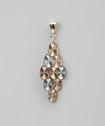 Tricolor Oval Dangle Pendant