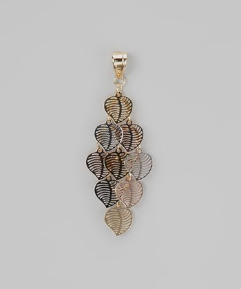 Tricolor Dangling Leaves Pendant