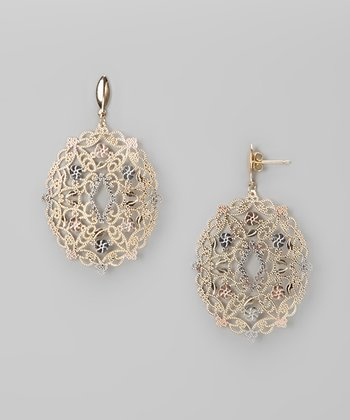 Tricolor Filigree Earrings