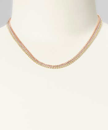 Tricolor Three-Row Chain Necklace