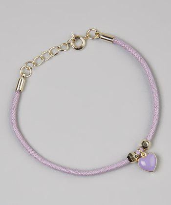 Purple Heart Cord Bracelet