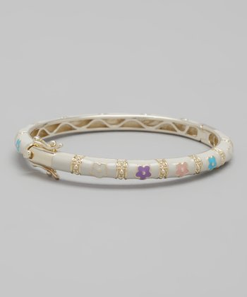 Pink & Purple Flower Bangle