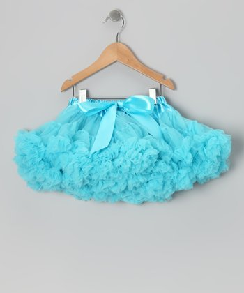 Turquoise Fluffy Pettiskirt - Toddler & Girls