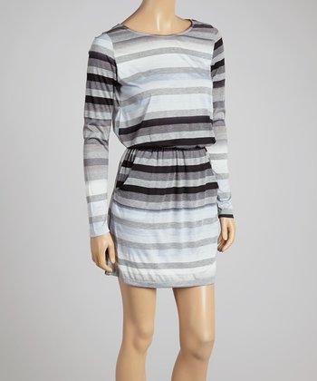Big Star Black & White Stripe Elayna Dress - Women