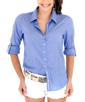 Cino Periwinkle Button-Up - Women