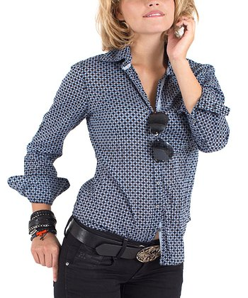 Cino Helio Tiny Clover Button-Up - Women