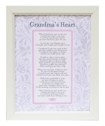 Grandparent Gift Company 'Grandma's Heart' Vintage Frame