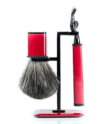 Red Shaving Set