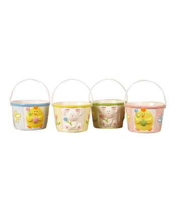 Bunny & Chick Mini Basket Container Set