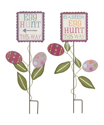Easter Egg Hunt Yard Stake Set