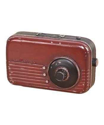 Red Nostalgic Radio Bank Accent