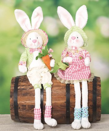 Celebration Bunny Shelf Sitter Figurine Set