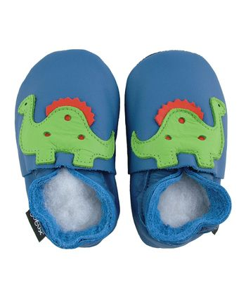 Bobux - Blue Dinosaur Shoes