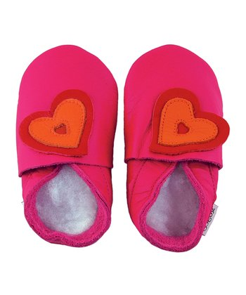 Fuchsia Heart Shoes