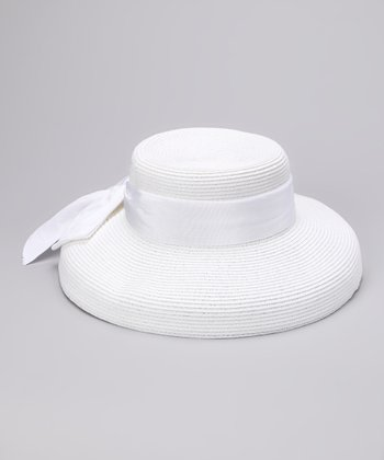 White Sash Braid Sunhat