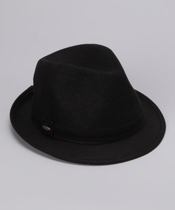 Black Solid Fedora