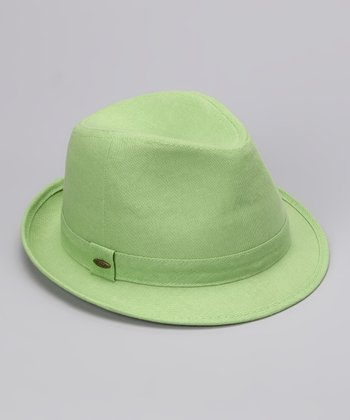 Lime Solid Fedora