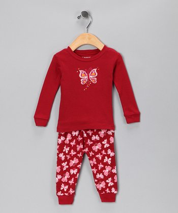 Red Butterfly Pajama Set - Infant