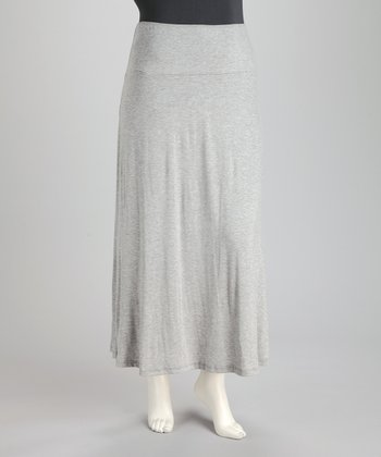 Heather Plus-Size Maxi Skirt
