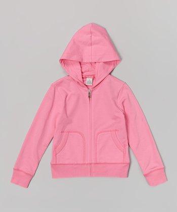 Preppy Pink Zip-Up Hoodie - Toddler & Girls