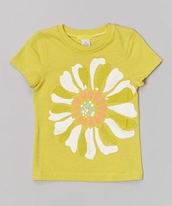 Neon Yellow Flower Tee - Toddler & Girls